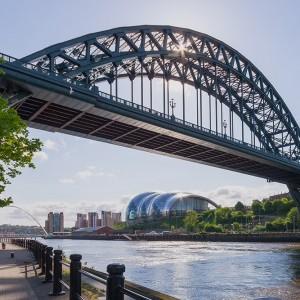 Newcastle Tyne Bridge & Sage Building, waterfront