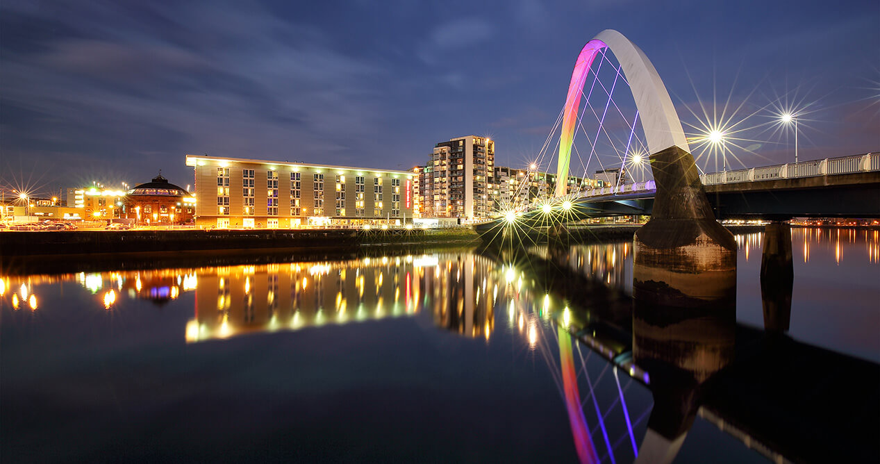 Glasgow - River Clyde at night