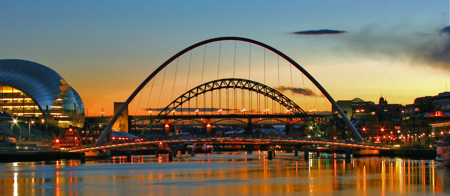tyne bridges and the sage