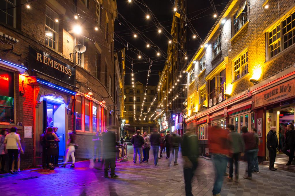 Liverpool street at night